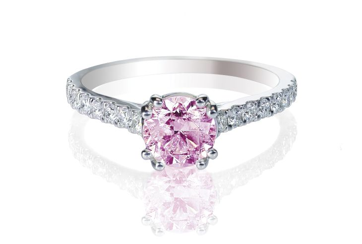 1 carat diamond ring color